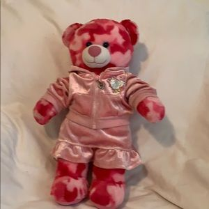 Build a bear Camo Girl in pink 2-pc outfit